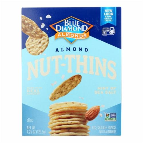 Blue Diamond - Almond Nut-Thins - Hint of Sea Salt - 4.25 oz Perspective: front