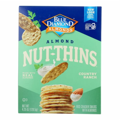 Blue Diamond - Nut Thins - Country Ranch - Case of 12 - 4.25 oz. Perspective: front