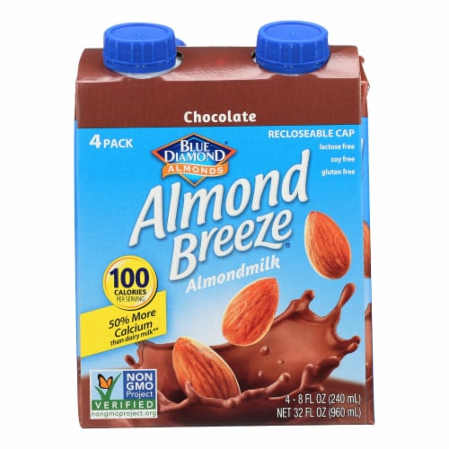 Almond Breeze - Almond Milk - Chocolate - Case of 6 - 4/8 oz. Perspective: front