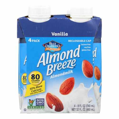 Almond Breeze - Almond Milk - Vanilla  - Case of 6 - 4/8 oz. Perspective: front