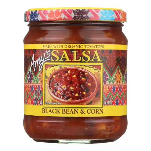 Amy's Black Bean and Corn Salsa Perspective: front