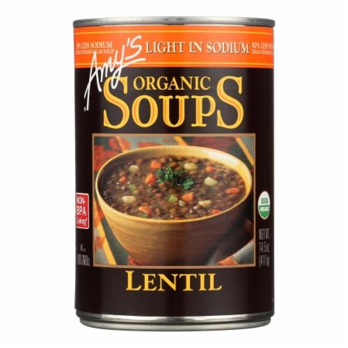 Amy's - Organic Low Sodium Lentil Soup - Case of 12 - 14.5 oz Perspective: front