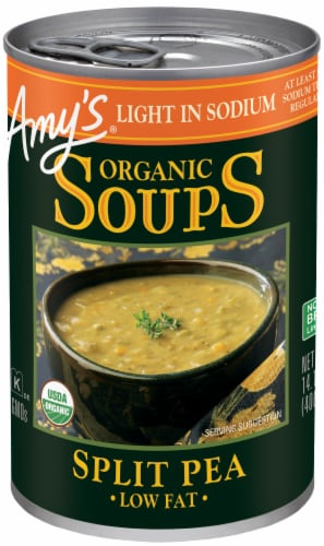 Amy's Organic Light in Sodium Split Pea Soup Perspective: front