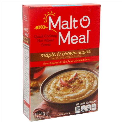 Malt-O-Meal Maple And Brown Sugar - Hot Cereals, 28 Ounce -- 12 per case. Perspective: front