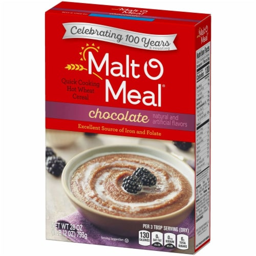 Malt-O-Meal Chocolate Hot Wheat Cereal, 28 ounce -- 12 per case Perspective: front