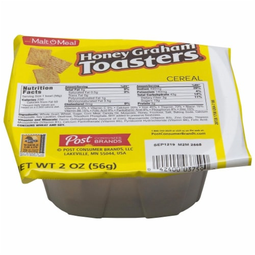 Malt-O-Meal Honey Graham Bread Cereal, 2 Ounce -- 48 per case. Perspective: front