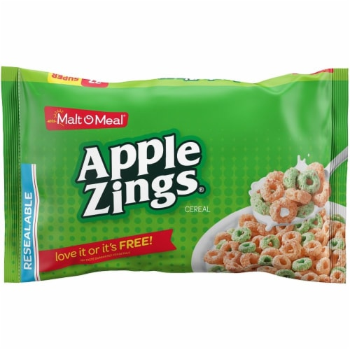 Malt-O-Meal Single Serve Apple Zings Bowl Pack Cereal, 0.75 Ounce -- 96 per case. Perspective: front