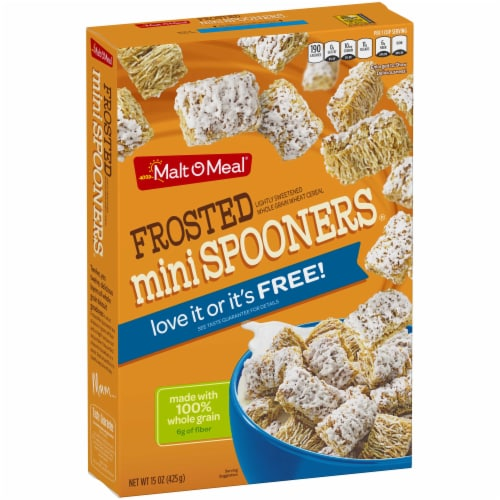 Frosted Mini Spooners Cold Cereal, 15 Ounce -- 16 per case. Perspective: front