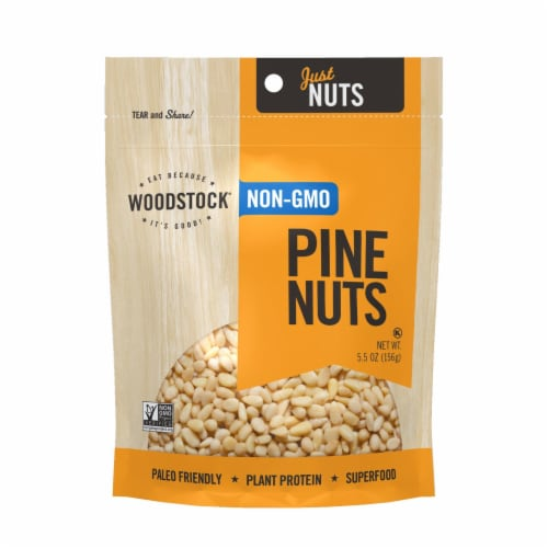 Woodstock Non-GMO Pine Nuts - Case of 8 - 5.5 OZ Perspective: front