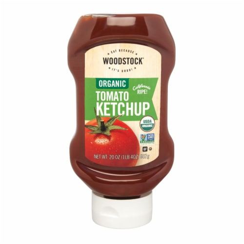 Woodstock Organic Tomato Ketchup - 1 Each 1 - 20 OZ Perspective: front