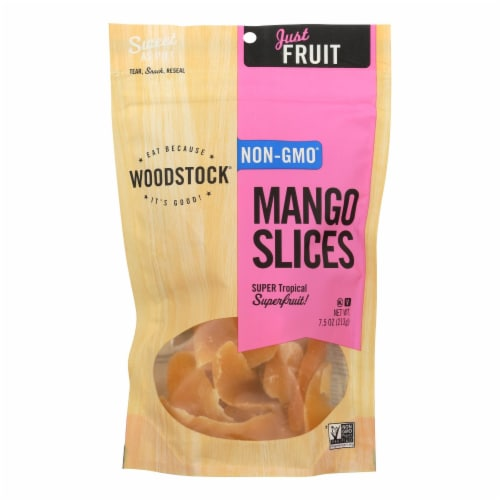 Woodstock Mango Slices - Case of 8 - 7.5 oz. Perspective: front