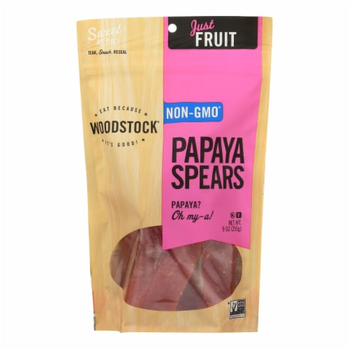 Woodstock Papaya Spears - Case of 8 - 9 oz. Perspective: front