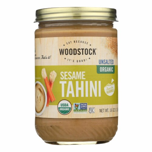 Woodstock Unsalted Organic Sesame Tahini - 1 Each 1 - 16 OZ Perspective: front