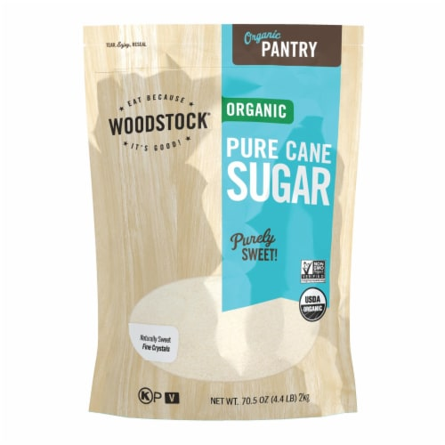 Woodstock Organic Cane Sugar - Case of 5 - 4.4 LB Perspective: front
