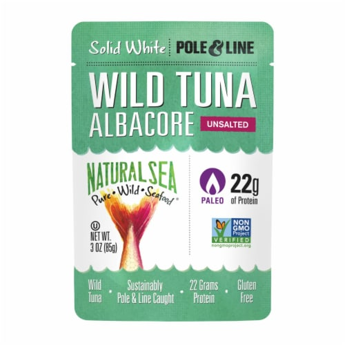 Natural Sea Wild Albacore Tuna Pouch, Unsalted, Solid White - 1 Each 1 - 3 OZ Perspective: front
