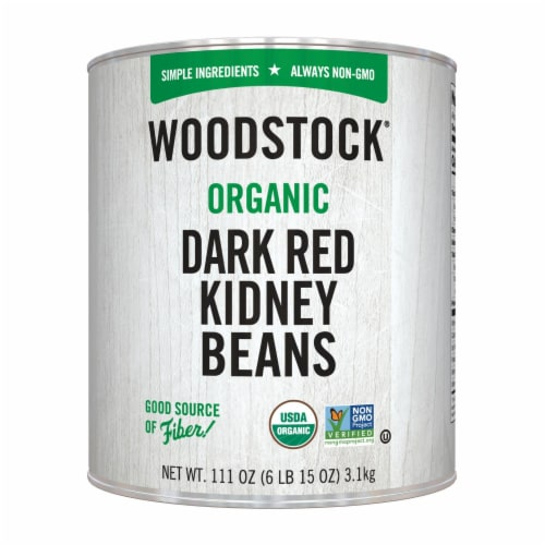 Woodstock Organic Dark Red Kidney Beans - Case of 6 - 111 OZ Perspective: front