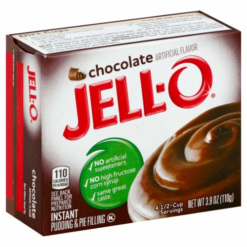 Jell-O Instant Chocolate Pudding 24 Case 3.9 Ounce Perspective: front