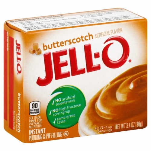 Jello Instant Butterscotch Pudding, 3.5 Ounce -- 24 Case Perspective: front