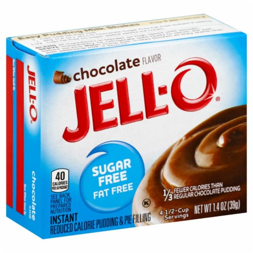 Jello Sugar/Fat Free Instant Chocolate Pudding, 1.4 Ounce -- 24 Case Perspective: front