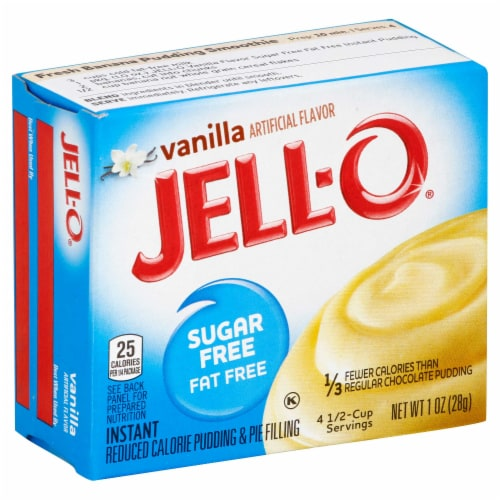 Jell-O Sugar/Fat Free Instant Vanilla Pudding 24 per Case, 1 Ounce each Perspective: front