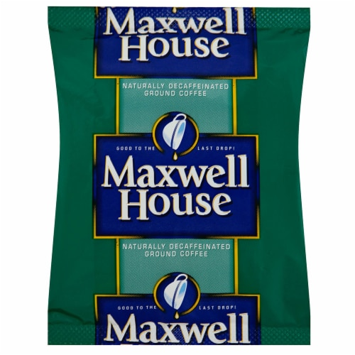 Maxwell House Decaffeinated Office Coffee Service - 1.1 oz. pouch, 42 pouches per case Perspective: front