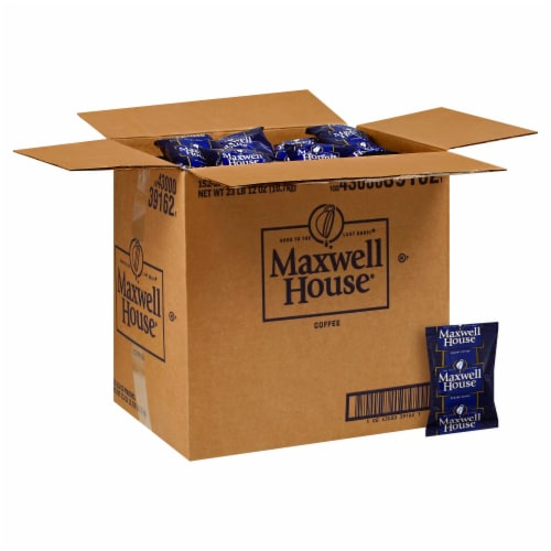 Maxwell House Ground Coffee - 2.5 oz. fractional pack, 152 packs per case Perspective: front
