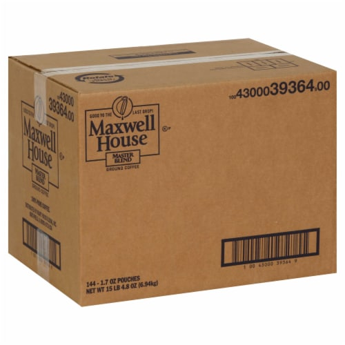 Maxwell House Master Blend Ground Coffee, 1.7 Ounce -- 144 per case. Perspective: front