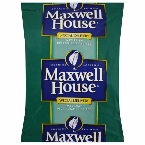 Maxwell House Special Delivery Decaffeinated Ground Coffee, 1.5 ounce -- 42 per case Perspective: front
