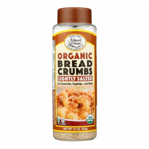 Edward and Sons Organic Breadcrumbs - Lightly Salted - Case of 6 - 15 oz. Perspective: front
