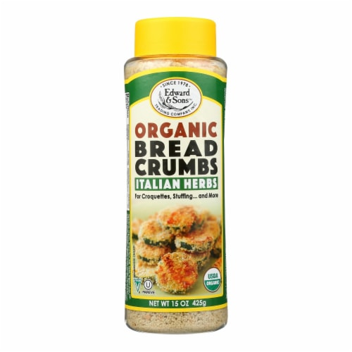 Edward and Sons Organic Italian Herb Breadcrumbs - Case of 6 - 15 oz. Perspective: front