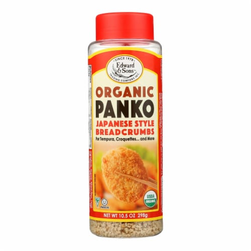 Edward and Sons Organic Panko Breadcrumbs - Case of 6 - 10.5 oz. Perspective: front