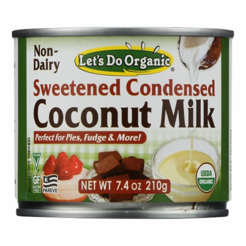 Let's Do Organic Organic Coconut Milk - Sweetened Condensed - Case of 6 - 7.4 fl oz Perspective: front