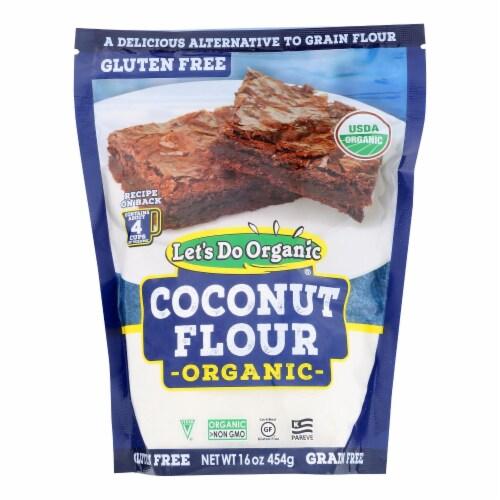 Let's Do Organics Organic Flour - Coconut - Case of 6 - 16 oz. Perspective: front