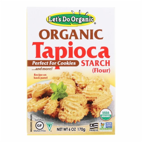 Let's Do Organics Tapioca Starch - Organic - 6 oz - Case of 6 Perspective: front