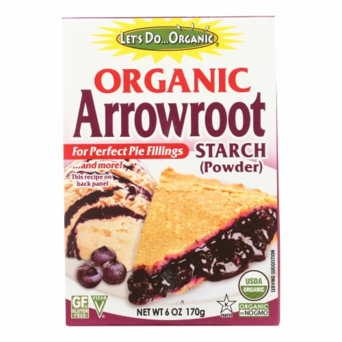 Let's Do Organic - Organic Arrowroot Starch - Case of 6 - 6 oz. Perspective: front
