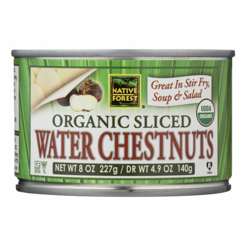 Native Forest Organic Sliced Water Chestnuts - Case of 6 - 8 OZ Perspective: front