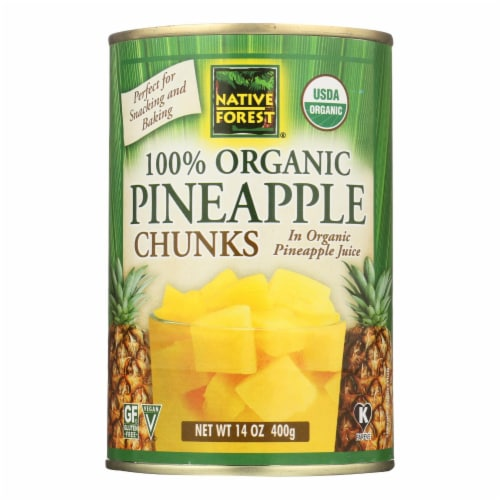 Native Forest Organic Chunks - Pineapple - Case of 6 - 14 oz. Perspective: front