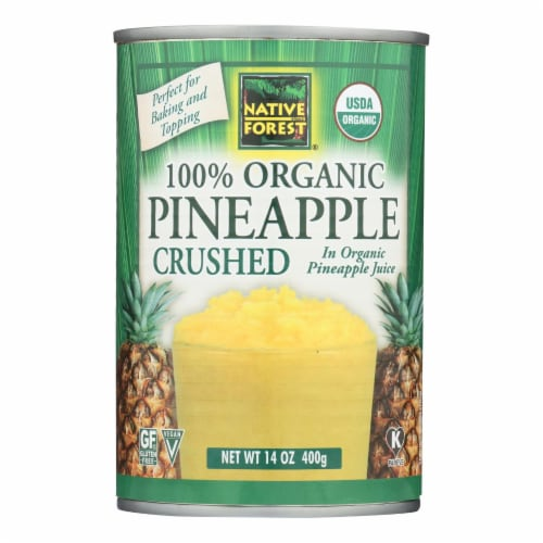 Native Forest Organic Pineapple - Crushed - Case of 6 - 14 oz. Perspective: front