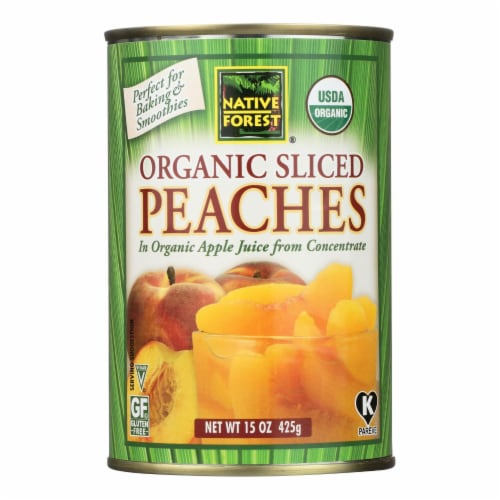 Native Forest Organic Sliced - Peaches - Case of 6 - 15 oz. Perspective: front