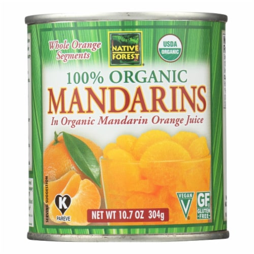 Native Forest Organic Mandarin - Oranges - Case of 6 - 10.75 oz. Perspective: front