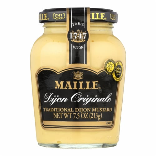 Maille Original Dijon Mustard - Case of 6 - 7.5 oz. Perspective: front