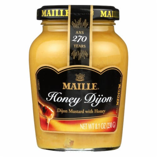 Maille Mustard Dijon with Honey - Case of 6 - 8 oz. Perspective: front