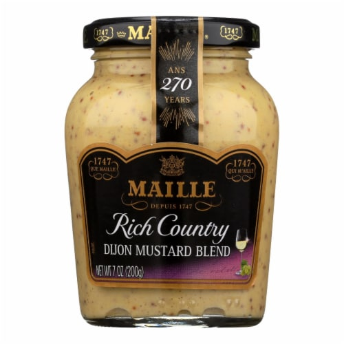 Maille Rich Country Dijon Mustard - Case of 6 - 7 oz. Perspective: front