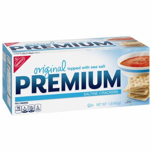 Premium Original Saltine Crackers Perspective: front