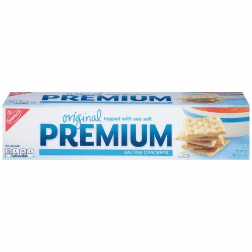 Kraft Nabisco Premium Original Saltine Cracker, 4 Ounce -- 12 per case. Perspective: front