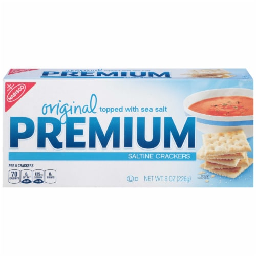 Kraft Nabisco Premium Original Saltine Cracker, 8 Ounce -- 12 per case. Perspective: front