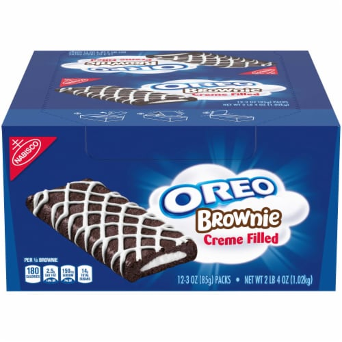 Oreo Creme Filled Individually Wrapped Brownie, 3 Ounce -- 72 per case. Perspective: front