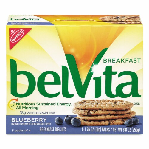 Belvita Blueberry Snack Bar, 1.76 Ounce -- 64 per case. Perspective: front