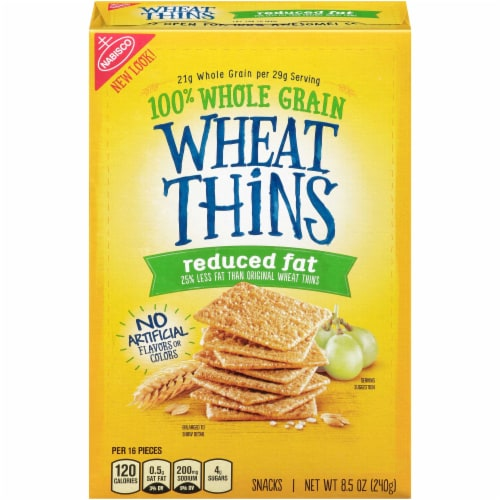 Wheat Thins Reduced Fat Cracker, 8.5 Ounce -- 6 per case. Perspective: front