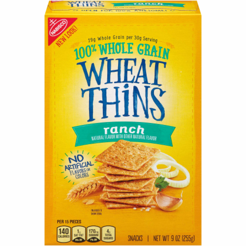Wheat Thins Ranch Crackers Perspective: front